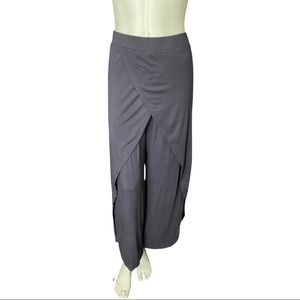 Leopards & Roses Blue/Grey Jersey Palazzo Pants S